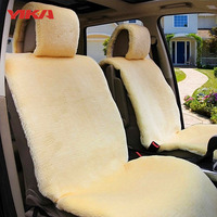 New Arrive 3 sets Autumn And Winter Short Wool Plush Automobiles Seat Covers Warm Decorative Car Luxury Car Seat Cover Cushion