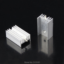 цены на 50 Pieces/lot 25x15x10mm Cooler Heatsink TO-220 TO220 Extrusion Heat Sink With Needle в интернет-магазинах