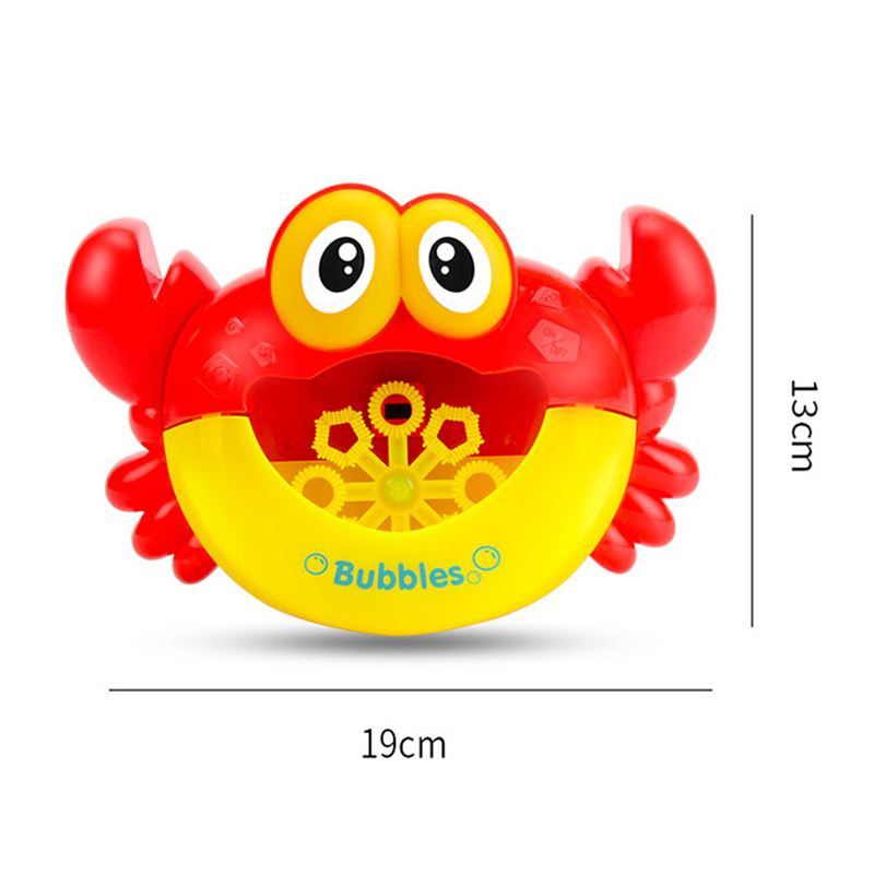 Baby Bath Toy Bathtub Soap Machine Kids Crabs Automatic Bubble Maker Party Outdoor Toy for Kids Music Toy Fun Play Toys