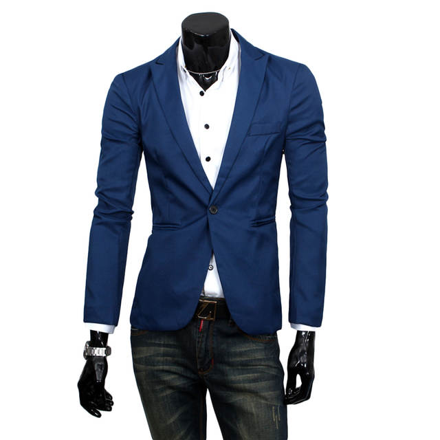 pretty nice de93e 78e20 US $10.19 49% di SCONTO|Helisopus moda Streetwear uomo Suit One Button Uomo  Blazer Slim Fit Costume High Street Casual Chic nuovo Blazer Maschile in ...