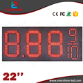 22'' 8889/10 led outdoor waterproof IP66 led gas station price signs board oil price display led gas petrol price oil gas