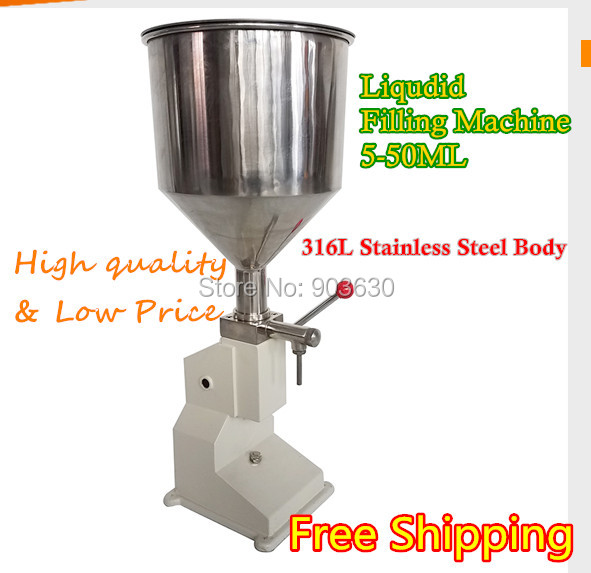 Stainless Steel Material Manual Cream Paste Liquid  Filling Machine(5-50ml) bottle filling liquid machine free shipping a03 new manual filling machine 5 50ml for cream