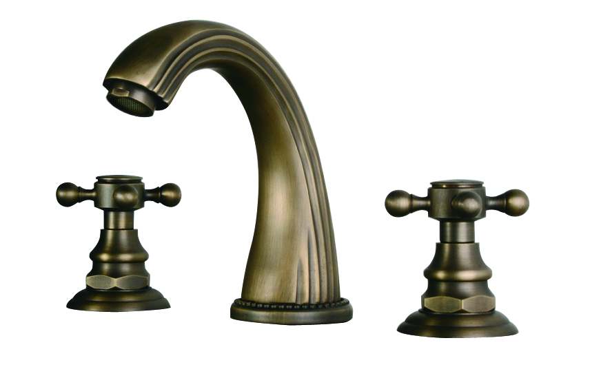 "New 8 Roman Widespread Lavatory Bathroom Sink Faucet Oil: Free Ship New Modern 3 Pcs 8"" Widespread Bathroom Sink"