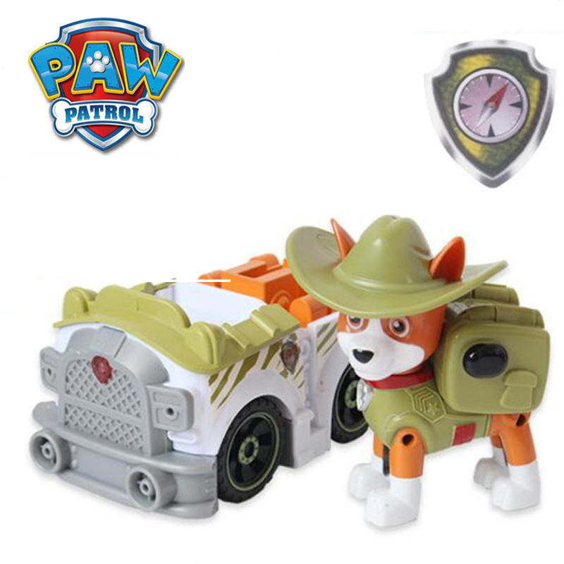 Buy New Style Tracker Paw Patrol psi Patrol Dog Puppy Pull Back Music Car Patrulla Canina Toys Figure Model everest Toy Kid Gift for only 14.86 USD