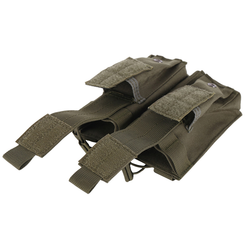 AK AR M4 FAMAS Mag Pouch Tactical MOLLE Triple Open-Top Magazine Pouch FAST Airsoft Military Paintball Equipment image