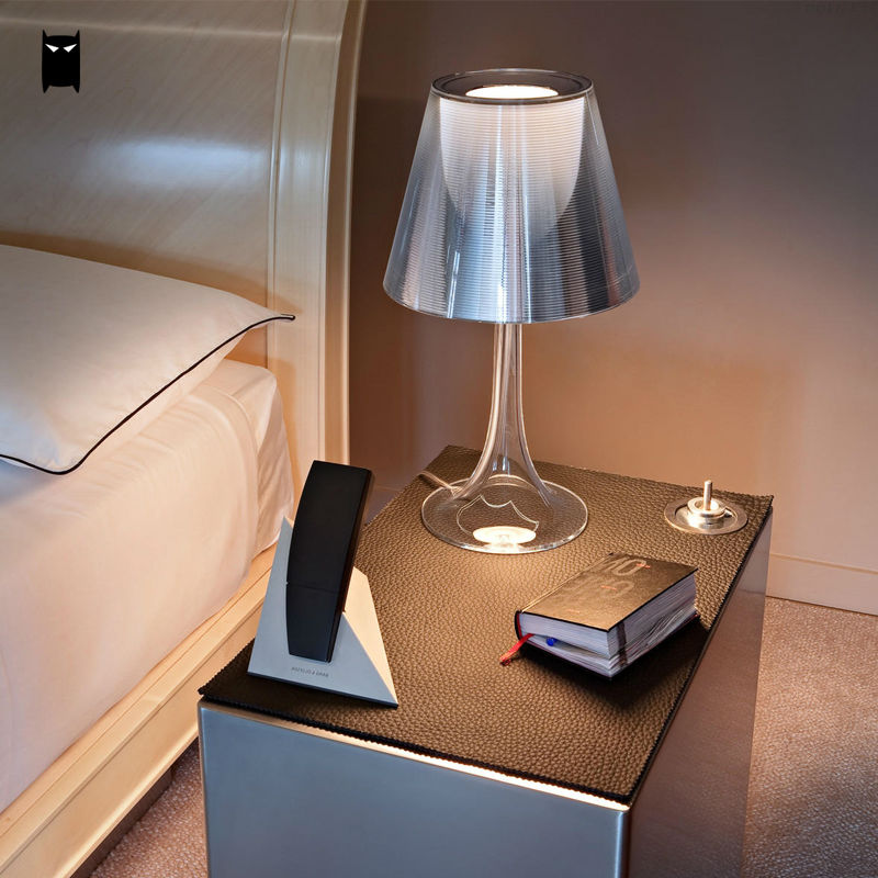 Red Gray Clear Yellow Acrylic Miss K Table Lamp Fixture Modern Nordic Fashion Bulb Desk Light Design Abajour Bedroom Bedside european style desk lamp table lamps modern minimalist fashion design bedroom bedside acrylic miss desk lamp lu727281