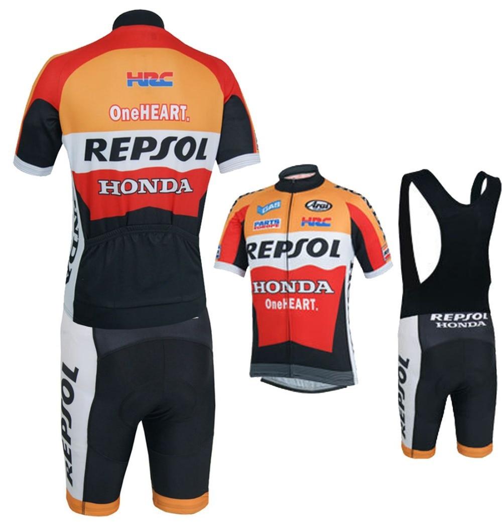 New Repsol Honda Jersey Ropa Ciclismo Shorts Bib Kits Breathable