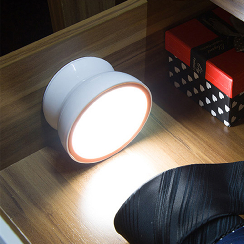 usb charging kids bedroom led lamps Creative 360 degrees rotate Intelligent LED Human Body Induction night light cabinet lamp