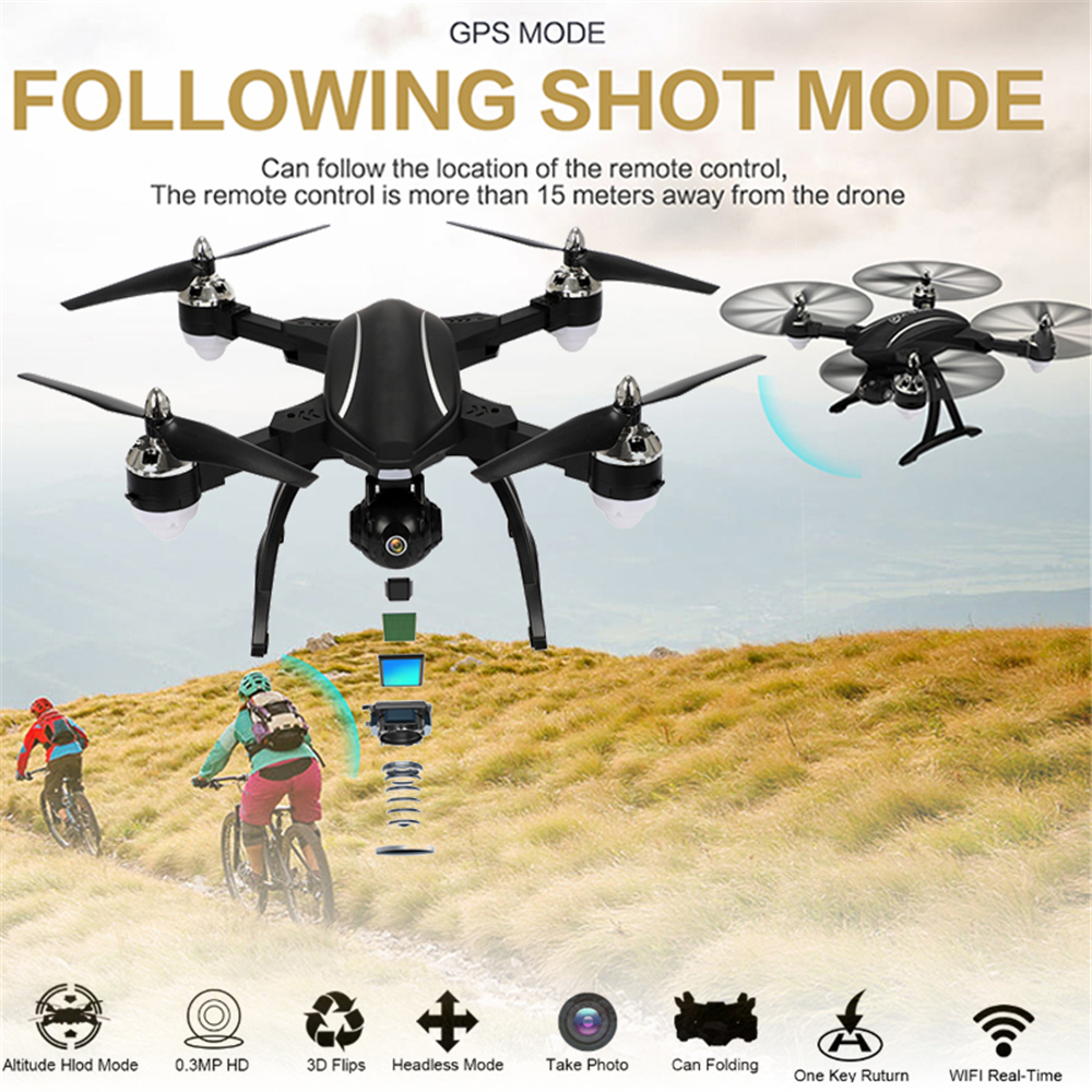lensoul RC Drone Intelligent GPS Auto-Follow 720P Digital HD Camera FPV WiFi Real-Time G-Sensor Live Surround Fly Quadcopter Toy intelligent sensor aircraft toy