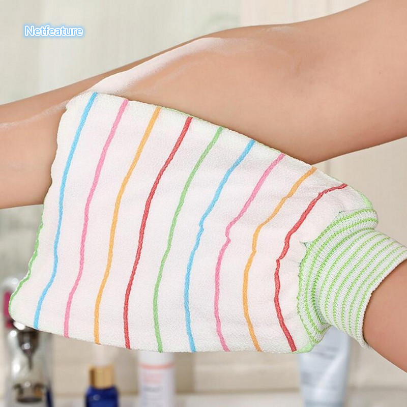 Household Double Layer Bath Glove Rub Back Towel Double Thickening Bath Towel Shower Bath Wash Skin Spa Message Scrubber Cleaner