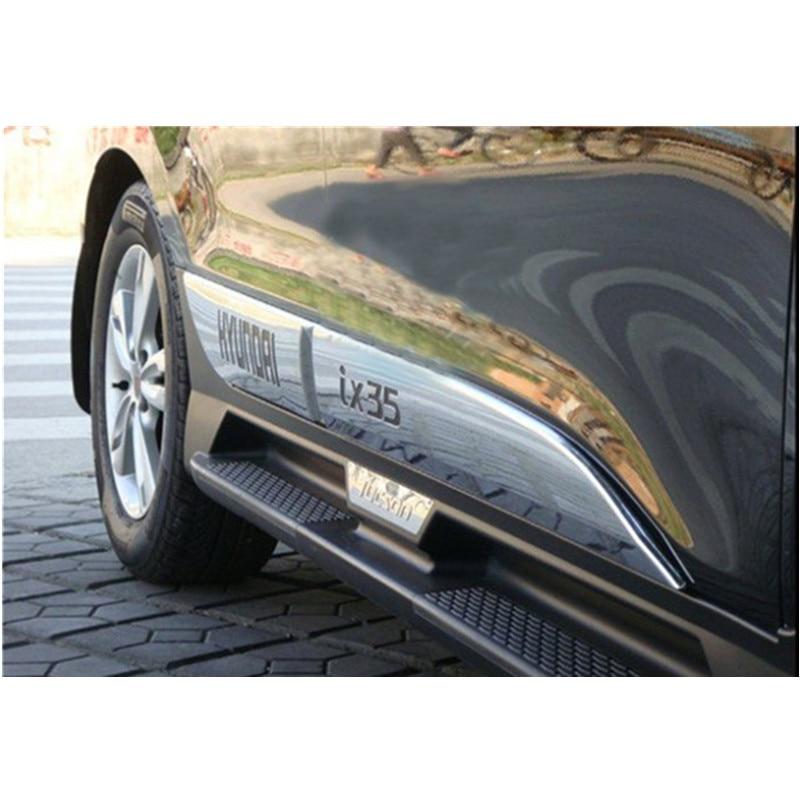 цена на High quality ABS Chrome body side moldings side door decoration For 2010-2012 Hyundai ix35