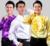 Espectáculo de danza Ropa Cantata Brillante Camisa de Los Hombres Camisa de Encaje Tribunal Europeo