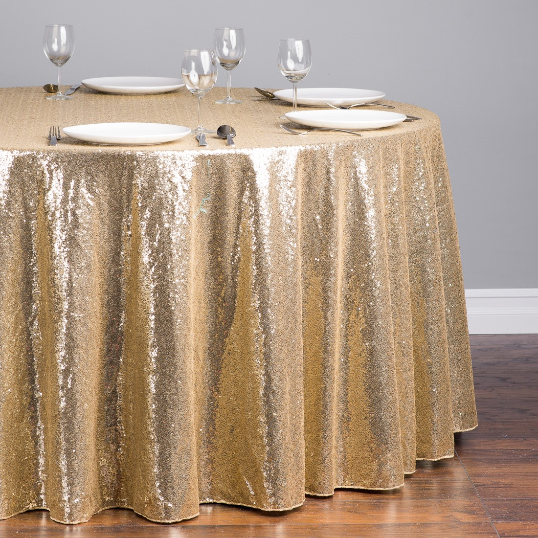 All Size Luxury Gold Sequin Table Cloth Wedding Party