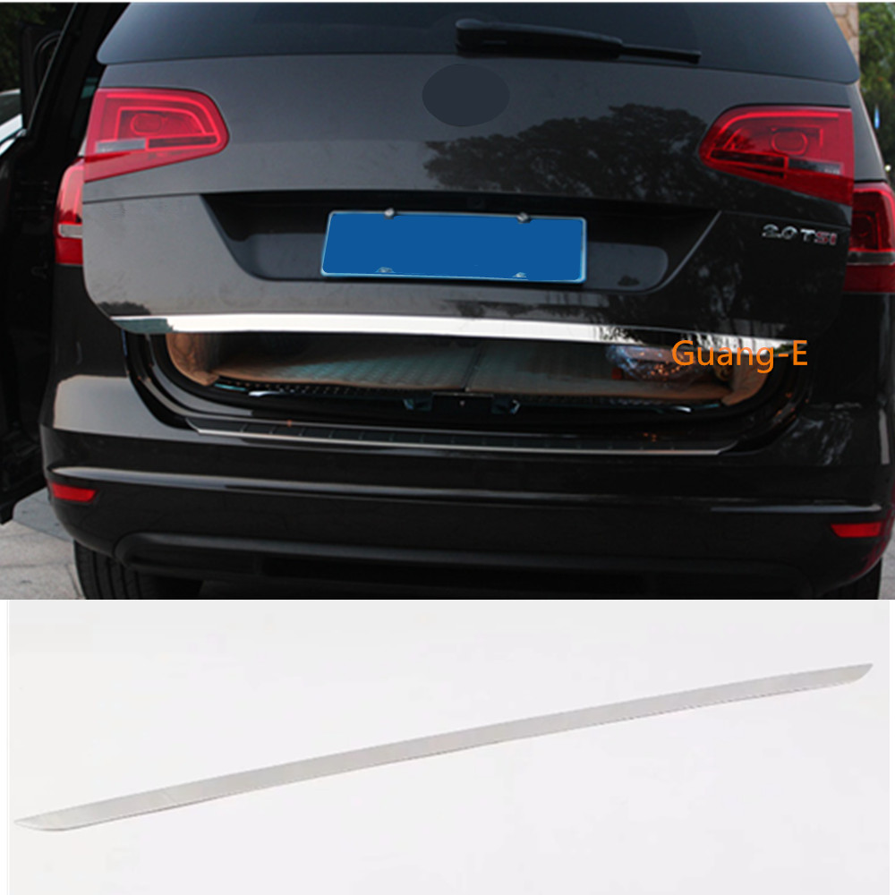 For Volkswagen VW Sharan 2016 2017 2018 2019 car cover Stainless steel Rear tail door bottom tailgate Trunk Lid Tail Gate trim