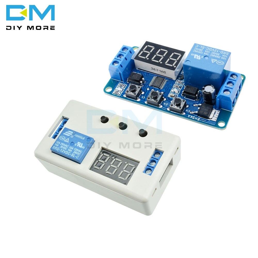 Модуль реле задержки времени постоянного тока 12 В 3 цифровой светодиодный дисплей программируемый переключатель таймера цикл запуска модуль с чехлом|Интегральные схемы|   | АлиЭкспресс