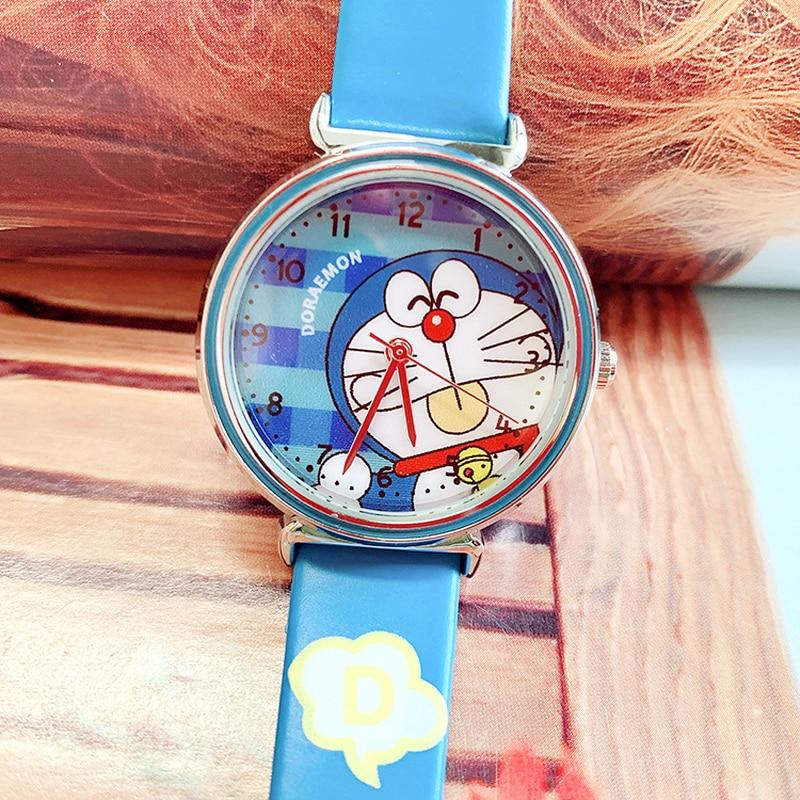 2019 High-grade Children's Watch Boys And Girls Waterproof Quartz Watch Doraemon Primary School Boys And Girls Cartoon Watch