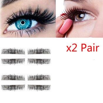 HOT 2 Pair 3D Magnetic False Eyelashes Lashes Handmade Imported Fiber Reusable False Magnet Wholesale Beauty Essentials