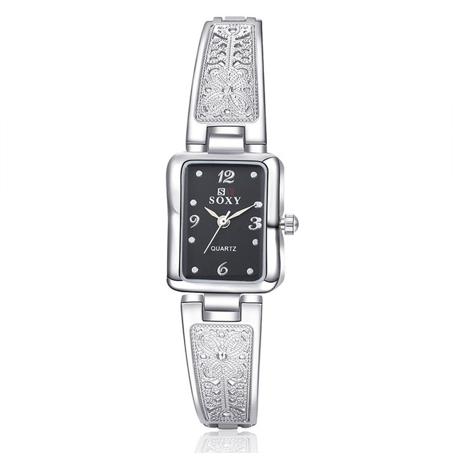 New Fashion Rhinestone Watches Women Luxury Stainless Steel Bracelet watches Lad