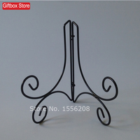 Wrought Iron Plate Easel Stand Decoration Plate Frame Dish Holder For 8 12 Inch Plate Black