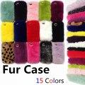 Caixa do telefone de pele de coelho rex real para iphone 6 6 s caso de peles de luxo para o iphone 6 s plus 4/4S/5/5S/5se/5c factory outlet
