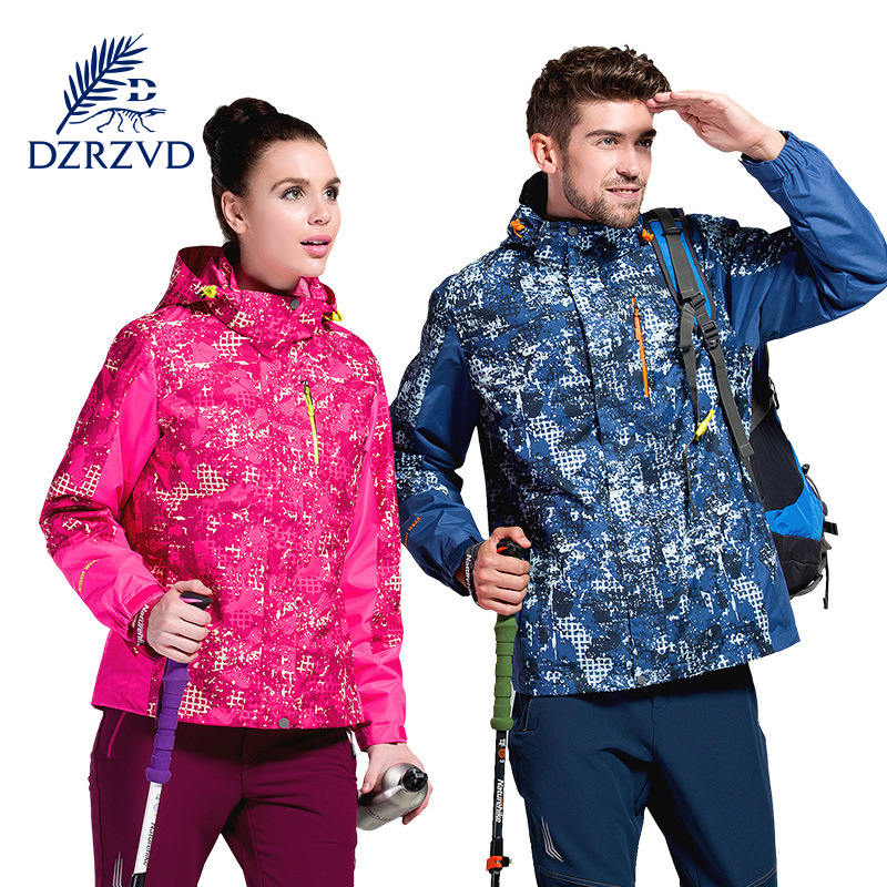 DZRZVD  Camouflage Jacket Long coral velvet hiking  outdoor women and men hiking jackets