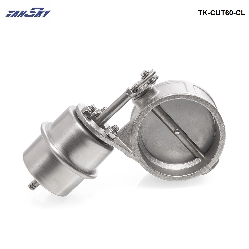 NEW Vacuum Activated Exhaust Cutout / Dump 60MM Close Style Pressure: about 1 BAR For FORD MUSTANG GT/SVT TK-CUT60-CL цены