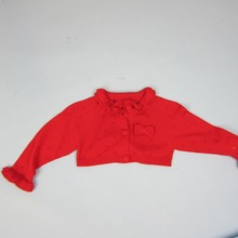 WINTER 2016 High Quality Kids Cardigan To Match Dress Outcoat BOW APPLICATION Long Sleeve RED ROSE Sweater Girls ClothesTHS01