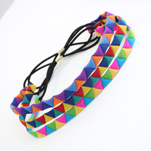 Free Shipping Hairbands for Women Color triangles Headband  Hair Band Accessories Head wear for Women Girls HS71