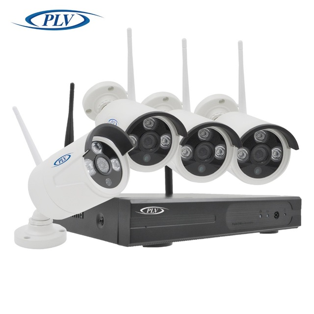 PLV 4CH IR Home Security Wifi Wireless IP Camera System 1080P CCTV ...