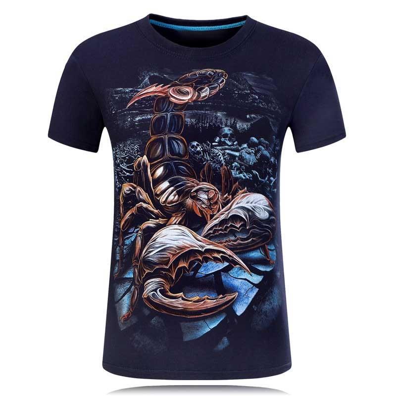 2018 Global penjualan New Fashion Brand T Shirt 3D Dicetak t-shirt - Pakaian Pria - Foto 5