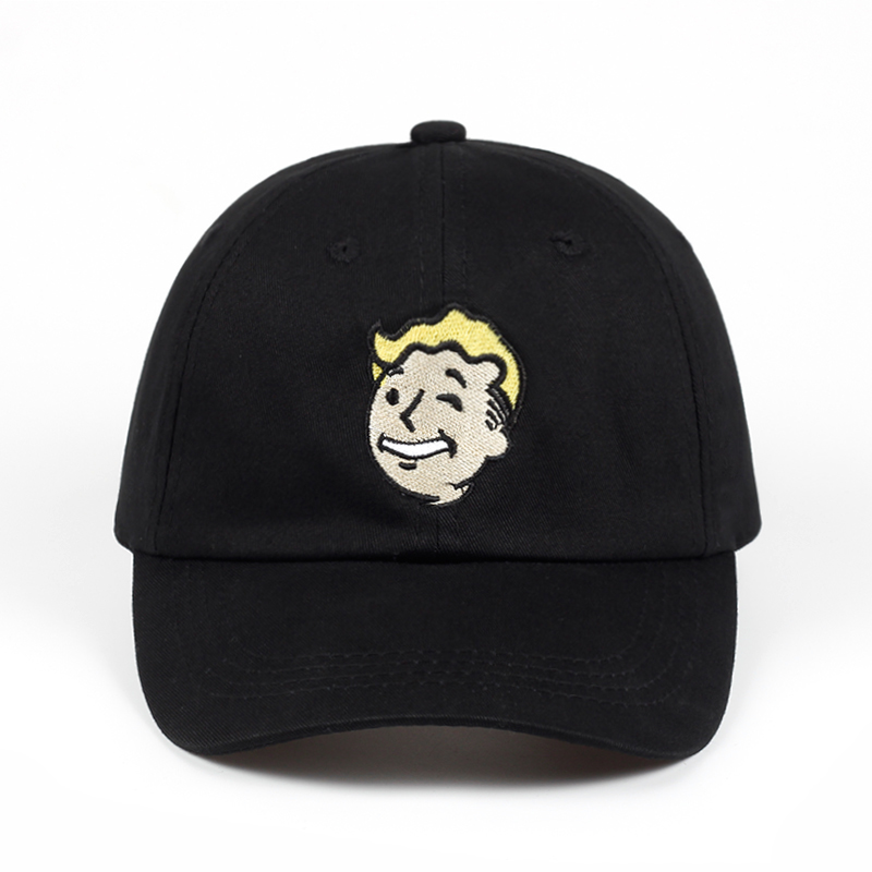 Pip boy   Baseball     Cap   Fallout 4 Dad Hat Fallout Shelter Pip-Boy Embroidery 100% Cotton Snapback   Caps   Game Lovers Women Men Hat