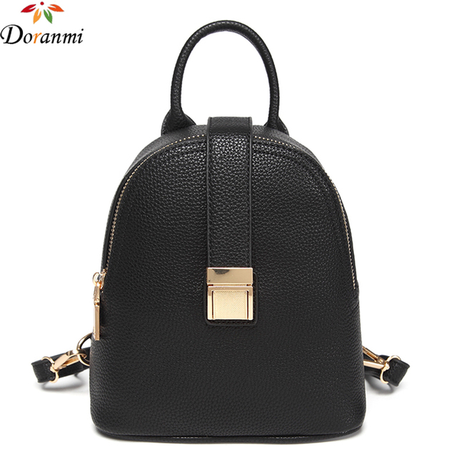 365b972bcc71 DORANMI Fashion Small Backpack For Women Casual Daypacks Good Quality  Leather Backpacks Travel Schoolbag Brand Design Bag SJB156