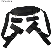 Bondage Sex BDSM Sex Belt Bondage Handcuffs  Ankle Cuff  Slave Control Sex Way  Sex Toys for Woman Adult  Games Bed Bondage Black Sex for Couple new stainless steel bondage harness handcuffs with legcuffs bdsm bondage restraints handcuffs for sex adult games toy for couple