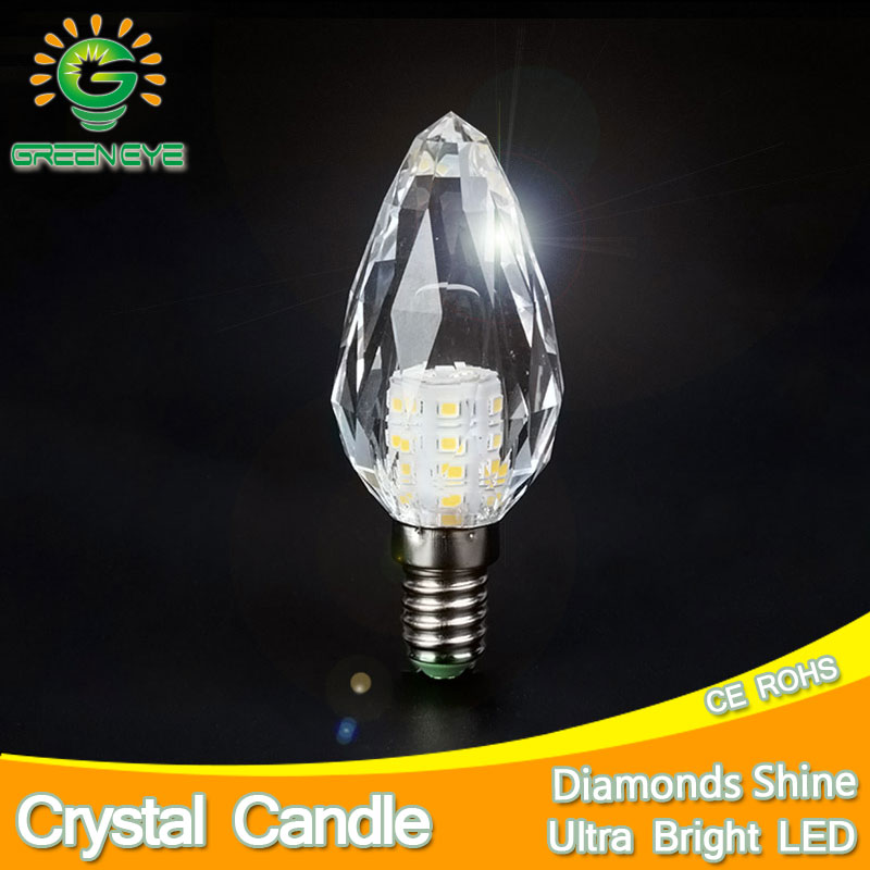 Perfect Shine K5 Crystal LED Candle Bulb E14 7W LED Light 220V Led Lamp Lampada Bombillas Ampoule Chandelier Cool Warm White