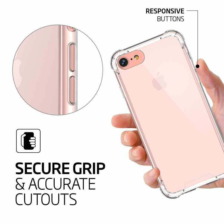 Ultra Tipis Slim Transparan Lembut Tpu Ponsel Case untuk iPhone 7 Plus Capa Clear Case untuk iPhone X 6 S 8 7 Plus 6 Case Debu Plug 3