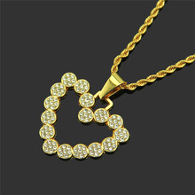 1PC Street fashion Europe and the United States classic retro lock heart necklace
