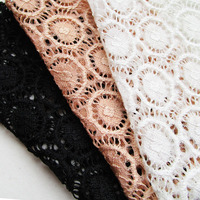 90cm 150cm Summer Dress Circle Hollow Lace Fabric 2017 Soft Lingerie Vest French Cardigan Knitted Fabric
