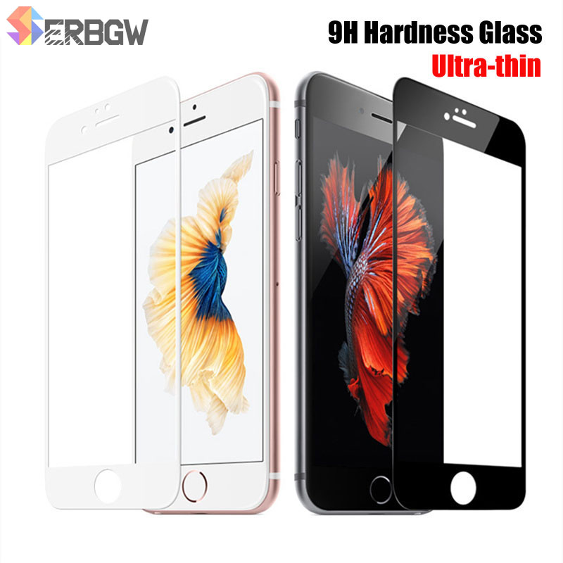 9H Hardness Tempered Glass For Apple IPhone 6 6s 7 8 4.7 Screen Protective Film For IPhone 7 8 6 6S Plus 5.5 Soft Edge Protector