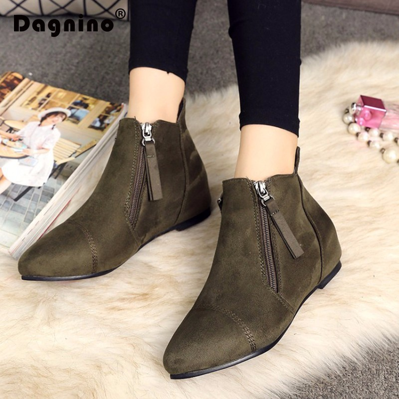 483b9f05a9f1a DAGNINO Autumn Winter England Short Canister Bottom Woman Xue Ping With The  Shoe Side Zipper Chelsea Boots 40 44 Ankle Shoes-in Ankle Boots from Shoes  on ...