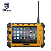 Китай (материк) P12 прочный промышленный Водонепроницаемый противоударный планшетный ПК с системой андроида шт UHF PTT иди и болтай Walkie talkie Радио 7 дюймов, 3 Гб оперативной памяти, Оперативная память двойная SIM GPS 4G