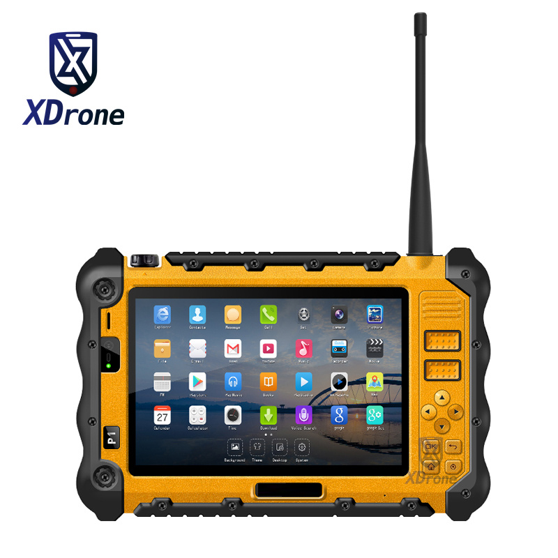 China P12 Industrial Robusto À Prova D' Água À Prova de Choque Android Tablet PC UHF PTT Walkie talkie Rádio 7 Polegada 3 GB de RAM Dupla sim GPS 4G