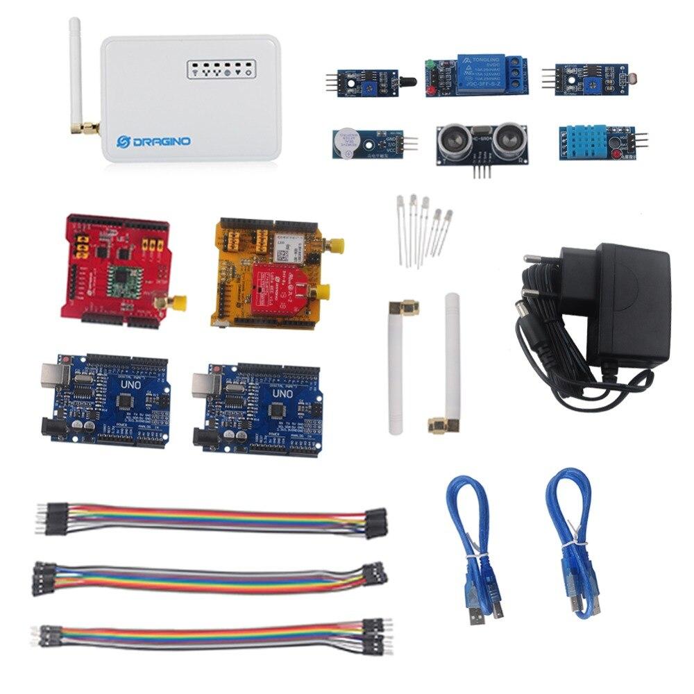 Pour Dragino LoRa IoT Kit de développement Internet des objets avec LG01-P LoRa passerelle LoRa/GPS bouclier 433 MHZ 868 MHZ 915 MHZ