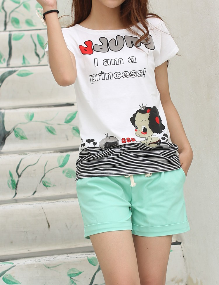 Summer Style Shorts Women Candy Color Elastic With Belt Short Women 29