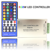 40 Keys IR RGBW LED Controller Input Voltage DC12V 16A Use for SMD 3528 5050 RGBW Light String Distance 10 Meters Big Power