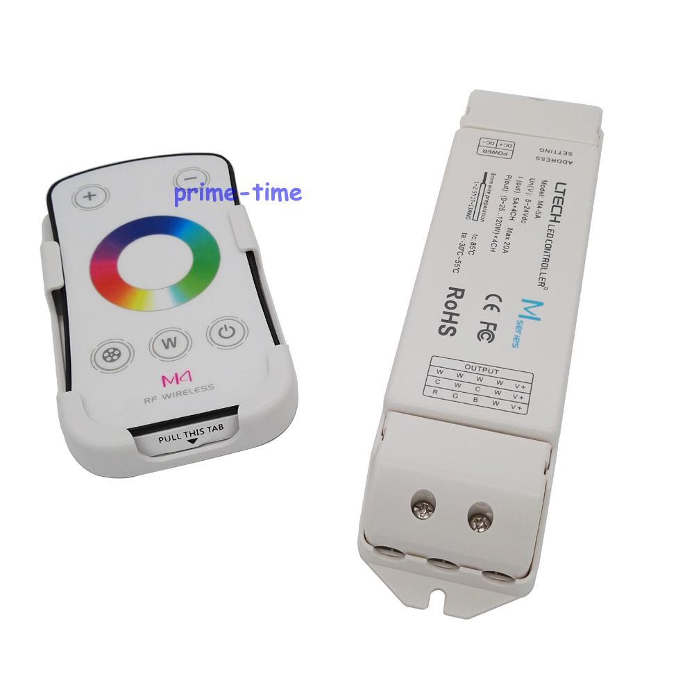 Rgb Controlers Dc5-24v 20a 5a*4ch Receiving Controller For 5050 Rgbw Led Strip To Help Digest Greasy Food Candid Ltech M4+m4-5a Rgbw Led Controller M4 Rf Wireless Touch Remote Lights & Lighting