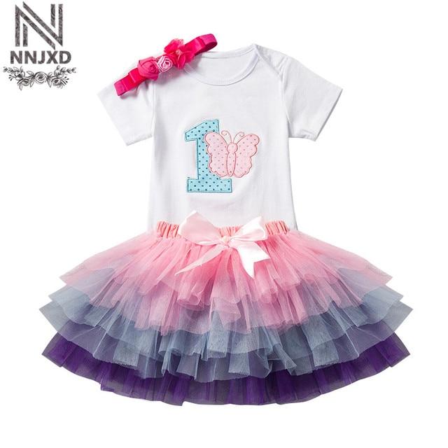 Verano niña ropa niña 1st cumpleaños Tutu outfit niño mariposa traje ...