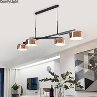 Modern Loft Industrial chandeliers Rose Gold hanging light Dining/bedroom/Kitchen Retro luminaire suspendu LED chandelier Lamps