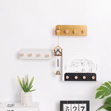 цена на Nordic Wall Clothes Hook Storage Rack Free Punch Coat Key Decoration Wall Hook Creative Wrought Iron Seamless Coat Wall Hanging