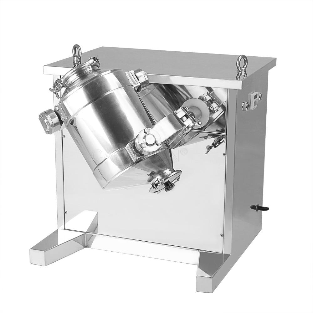 SH10 ტიპის ფხვნილის შემრევი სამგანზომილებიანი სვინგისით, 3D ფხვნილის შეზავების მანქანით (110V 60HZ)