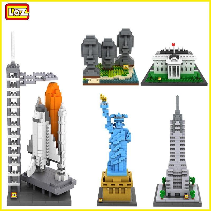 LOZ NanoBlocks 3D mignon diamant blocs de construction brique mondialement célèbre bâtiment Architecture maison blanche éducation jouets d'enfants à monter soi-même cadeau